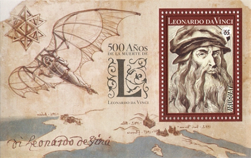 [The 500th Anniversary of the Death of Leonardo da Vinci, 1452-1519, type ]