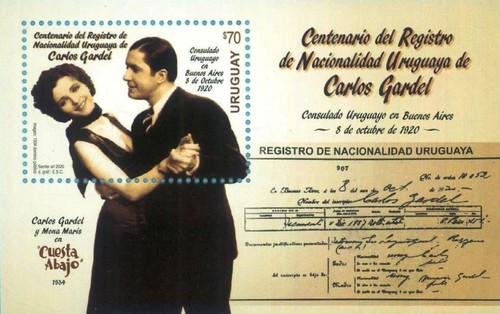[The 100th Anniversary of the Declaration of Uruguayan Citinzenship by Carlos Gardel, 1890-1935, type ]