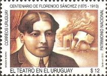 [The 100th Anniversary of the Death of Florencio Sánchez. 1875-1910, type CMW]