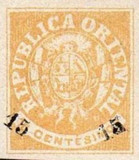 [Coat of Arms Stamps of 1864 Surcharged, type H2]