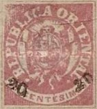 [Coat of Arms Stamps of 1864 Surcharged, type H3]