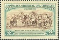 [The 100th Anniversary of the Death of General Jose Artigas, 1764-1850, type LR]
