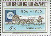 [Airmail - The 100th Anniversary of the First Uruguay Stamps, type MX1]