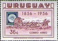 [Airmail - The 100th Anniversary of the First Uruguay Stamps, type MX2]