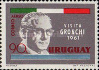[Airmail - Visit of President Giovanni Gronchi of Italy, type OK]