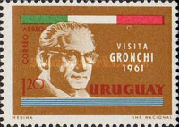 [Airmail - Visit of President Giovanni Gronchi of Italy, type OK1]