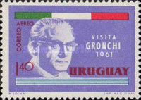 [Airmail - Visit of President Giovanni Gronchi of Italy, type OK2]