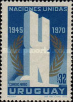 [Airmail - The 25th Anniversary of the United Nations, type WG]
