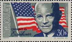 [Airmail - The 1st Anniversary of the Death of Dwight D. Eisenhower, 1890-1969, type WI]