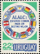[Airmail - The 10th Anniversary of the Founding of Latin-American Association for Free Trade by the Montevideo Treaty, type WX]