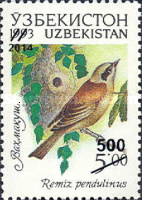 [Fauna of Uzbekistan Issue of 1993 Surcharged, Typ K1]