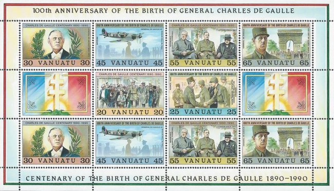 [The 100th Anniversary of the Birth of General Charles de Gaulle, type ]