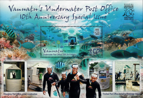 [The 10th Anniversary of the Underwater Post Office, type ]