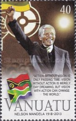 [The 1st Anniversary of the Death of Nelson Mandela, 1918-2013, type AIW]