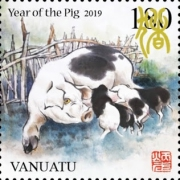 [Chinese New Year 2019 - Year of the Pig, type AKC]
