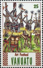 [The 2nd Anniversary of the National Art Festival, Luganville, type JW]