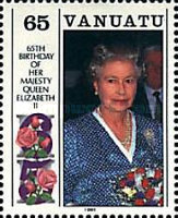 [The 65th Anniversary of the Birth of of Queen Elizabeth II and the 70th Anniversary of the Birth of Prince Philip, type KE]