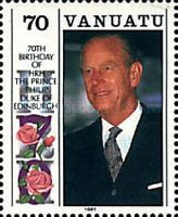 [The 65th Anniversary of the Birth of of Queen Elizabeth II and the 70th Anniversary of the Birth of Prince Philip, type KF]