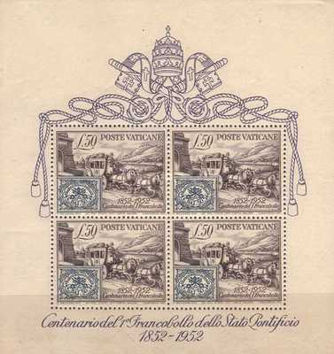 [The 100th Anniversary of Stamp of the Vatican State, type ]