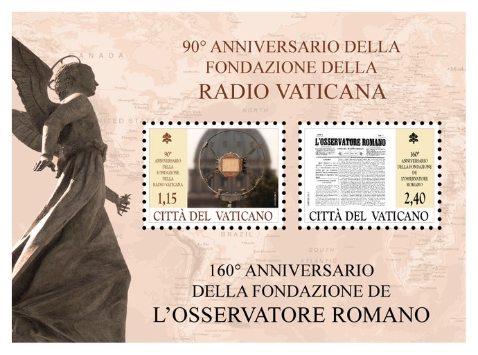 [The 90th Anniversary of the Vatican Radio and the 160th Anniversary of the L'Osservatore Romano, type ]