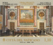 [The 90th Anniversary of the Lateran Treaty - Joint Issue with Italy, Typ BQY]