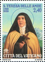[The 100th Anniversary of the Death of Saint Teresa of Jesus of Los Andes, 1900-1920, Typ BSO]