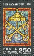 [Sede Vacante II. The Death of Pope John Paul I - Stained Glass, type RJ2]