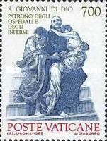 [The 100th Anniversary of the Cannonnization of John of God and Camillo de Lellis as Protectors of the Ill, type XN]