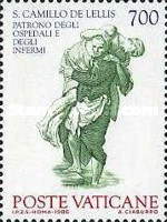[The 100th Anniversary of the Cannonnization of John of God and Camillo de Lellis as Protectors of the Ill, type XO]