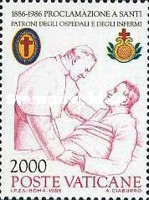 [The 100th Anniversary of the Cannonnization of John of God and Camillo de Lellis as Protectors of the Ill, type XP]