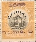 [Coat of Arms Stamps of 1898 Handstamp Surcharged in Violet or Bluish Violet, type B]