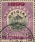 [Coat of Arms Stamps of 1898 Handstamp Surcharged in Violet or Bluish Violet, type B1]
