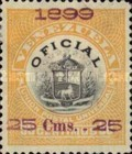[Coat of Arms Stamps of 1898 Handstamp Surcharged in Violet or Bluish Violet, type B2]