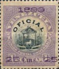 [Coat of Arms Stamps of 1898 Handstamp Surcharged in Violet or Bluish Violet, type B3]