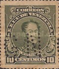 [Simon Bolivar, Different Perforation - Postage Stamps of 1924 Peforated