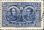 [Battle of Ayacucho Postage Stamp of 1924 Perforated