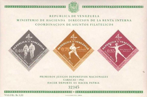 [Airmail - The 1st National Games - Caracas, Venezuela 1961, type ]