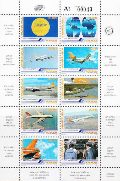 [The 25th Anniversary of VIASA, Airline, type ]