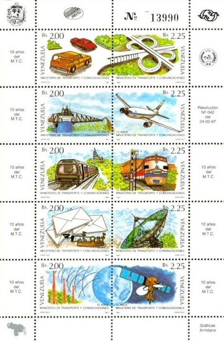 [The 10th Anniversary of Ministry of Transport and Communications, type ]