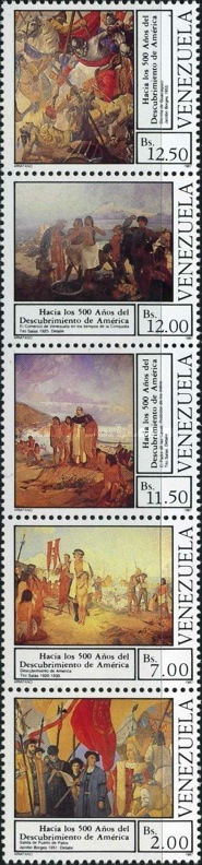 [The 500th Anniversary of Discovery of America by Columbus 1992, type ]