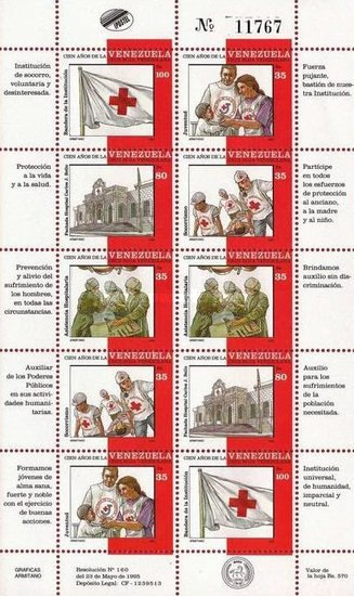 [The 100th Anniversary of Venezuelan Red Cross, type ]