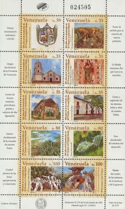 [The 450th Anniversary of El Tocuyo, type ]