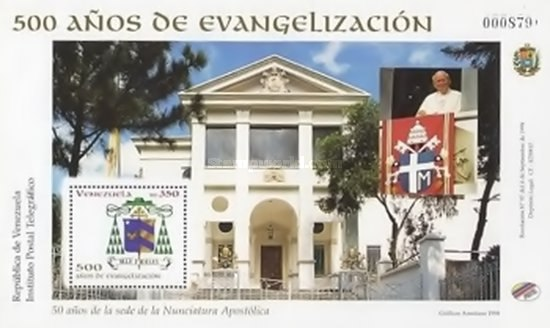 [The 500th Anniversary of First Christian Missions to Venezuela, тип ]