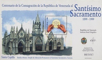 [The 100th Anniversary of Consecration of Church of the Blessed Sacrament, Caracas, type ]