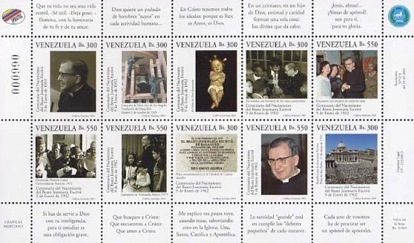 [The 100th Anniversary of the Birth of Josemaria Escriva de Balaguer, Founder of Opus Dei, Religious Organization, 1902-1975, type ]