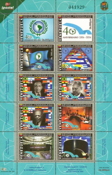 [The 40th Anniversary of Latin American Parliament, type ]