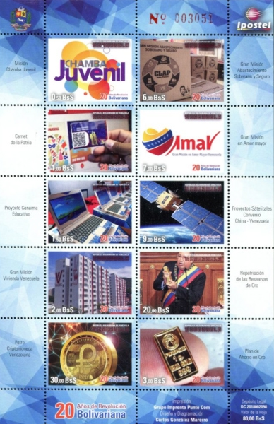 [The 20th Anniversary of the Bolivarian Revolution of 1998, type ]