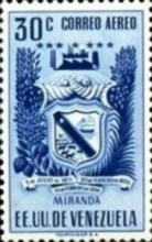 [Airmail - Coat of Arms - State of Miranda, type ACP12]
