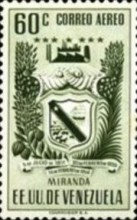 [Airmail - Coat of Arms - State of Miranda, type ACP14]