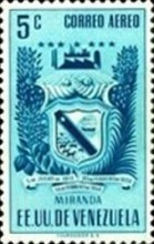 [Airmail - Coat of Arms - State of Miranda, type ACP7]